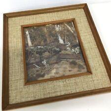 Square Bark & Dried Leaf Framed Arrangement #209