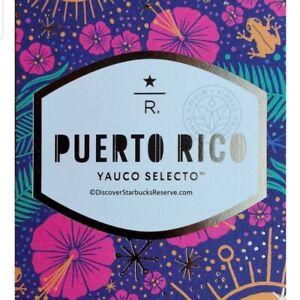 STARBUCKS Reserve Puerto Rico Yauco Selecto Whole Bean Coffee Beans 8.8 oz