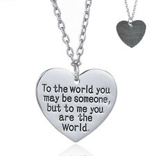 Valentines Gift for Wife You are My World Heart Necklace Girlfriend Nice Gift