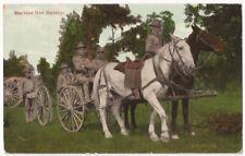 Machine Gun Battery American US Soldiers Antique 1911 Postcard #765