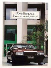 1985 Ford Fairlane 12-page Australia Original Car Sales Brochure Catalog