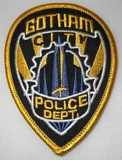 "Batman Gotham Police Shield Logo 3 1/4"" Tall Embroidered Iron on Patch"