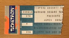 1988 JAMES BROWN BOSTON CONCERT TICKET STUB GODFATHER OF SOUL LIVE AT THE APOLLO
