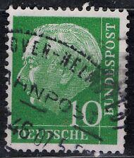 Briefmarken Luxus Brd Mi-nr 165 Gestempelt Mit Bahnpoststempel