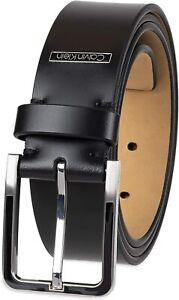 Calvin Klein Men's 35mm Wide Leather CE Dress Belt Black