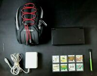 Nintendo DSi  Lot Of 12 Black Console Carry Case Charger Stylus 8 Games