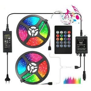 LED Strip Light RGB 5050 2835 Music Sync LED 12v Sound Sensor 20Key Control RGB