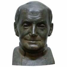 RARE 1840 LARGE BRONZE HEAD OF RUSSIAN PRIEST LABELLED JAMES BOURLET & SONS LTD