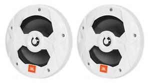 "Pair JBL MS8W 450 Watt 8"" White 2-Way Marine Audio Boat Speakers"
