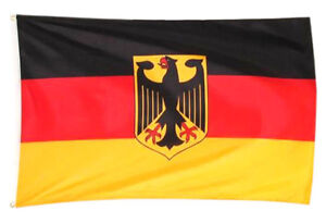 Deutschland Fahne 90 x 150 cm Deutsche National Flagge BRD Fahne mit Ösen Adler