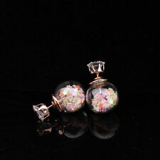 1Pair Fashion Women Lady Elegant Star Rhinestone Glass Ear Stud Earrings