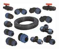 PE Rohr PP Klemmverbinder 16, 20, 25, 32 und 40mm Kupplung Verbinder Fittings