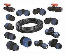 PE Rohr Verbinder 20mm - 40mm, Kupplung PP Klemmverbinder, Trinkwasser geeignet
