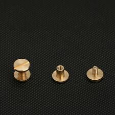 Pack of 20 Brass Binding Stud Rivet Screw Chicago Nail for Bag Belt Shoe Fitting