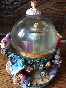 Disney Alice In Wonderland Large  Snowglobe With Original Box And Packaging
