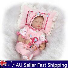 22'' Lifelike Baby Girl Doll Handmade Silicone Vinyl Reborn Newborn Doll+Clothes