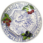 """Gien Oiseaux Bleu Fruit Dinner Plate 10.75"""" diameter NEW NEVER USED"""
