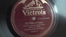 Ernestine Schumann-Heink - 78rpm single 12-inch – Victrola #88620 Old Folks...