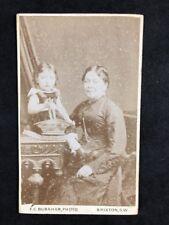 Victorian Carte De Visite CDV Family Burnham Brixton Girl On Table Basket