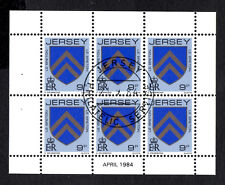 (Ref-8069) Jersey 1981-88 Arms of Jersey Families 9p Booklet Pane SG.257ab  CTO