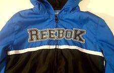 Boys Reebok Jacket Windbreaker Blue Black White Size 5 Excellent Condition Zip