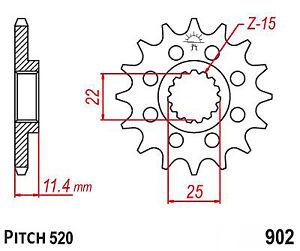 Hendler Front Sprocket 17 Teeth (1902-17) KTM LC4-E 640 Supermoto 1999-2006