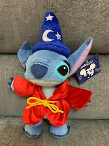 "Disney Stitch Wizard Magician Fantasia Sorcerer 11"" Plush Soft Toy"