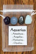 Aquarius Crystal Set Amethyst Angelite Hematite Opalite Horoscope Star Sign