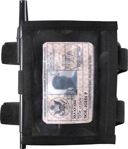 ID Armband Holder Black Identification Uniform Card Pass School Duty Military