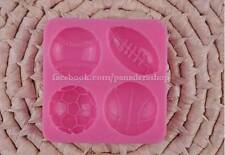 Sports Ball Fondant Gum paste Clay Silicone Cupcake Topper Mold Molder