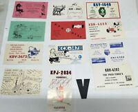 V Vintage USA QSL Radio Card Cartoon Graphics Lot of 12 1960s 1970s No Duplicate