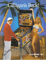 1991 BALLY MIDWAY GILLIGAN'S ISLAND PINBALL FLYER
