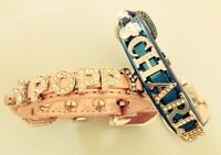 Chihuahua / T-Cup Personalised Dog Collar Diamante /Rhinestone /Bling. UK SELLER