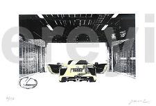 LEXUS LFA HIT+RUN SILKSCREEN PRINT Rare Exclusive Promotional Art 2009 SEMA Day4