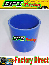 """4"""" Inch 102MM Straight Silicone Coupler Hose Turbo Intercooler Intake Pipe BLU"""