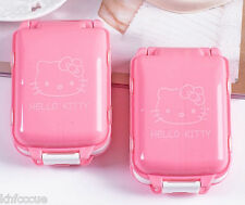 Hello Kitty Pink Pill Box Organizer Medicine Storage Case 3-deckers K565