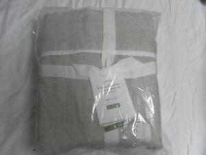 NEW AUTH POTTERY BARN BELGIAN FLAX LINEN FULL DUOTONE SHEET SET BEIGE/WHITE