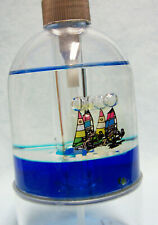 """SOAP DISPENSER 1998 Hand Pump  Ceramic Allure 7"""" Tall with Floating Ships"""