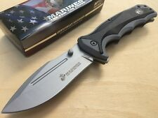 Couteau Tactical USMC Marines A/O Lame Acier Carbone/Inox Manche FRN USMA1057SG