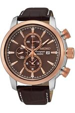Seiko Men's Watch Alarm Chronograph Date 44mm SNAF52P1
