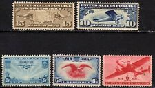 Etats-Unis - U.S.A. - Poste aérienne - 1926 à 1941 - 5 timbres neufs