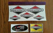 Reproduction 7pc. Briggs & Stratton Motorsports Racing Kart Mini Bike Decal Set.