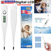 New Digital LCD Thermometer Baby Adult Kids Safe Body Ear Mouth Temperature UK