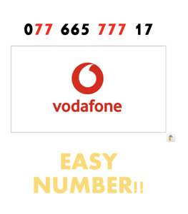 Vodafone Sim Card Easy Mobile Number GOLD VIP Fancy '077 665 777 17' EASY NUMBER