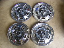"""1967 68 69 PLYMOUTH BARRACUDA 14"""" HUB CAPS WHEELCOVERS  FURY VALIANT DELUXE - 4"""