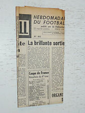 FRANCE FOOTBALL OFFICIEL HEBDOMADAIRE FFF N°405 22/12 1953