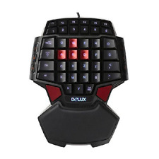 Arrival DELUX-T9 Portable Mini Gaming Keypad One Handed Keyboard Pro...
