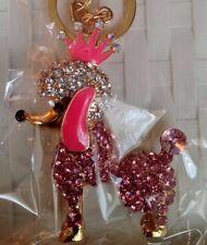 REGNO Unito Cristallo Diamante per Cane Animale Carino Borsetta Portachiavi Ciondolo Regalo Strass 6033