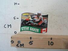 STICKER,DECAL STEVE BAKER NO 3 YAMAHA CANADA WEGRACE ROADRACE MOTO GP