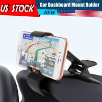 Car Mount For Cell Phone Clip Holder Stand Dashboard Universal Clamp GPS HUD USA